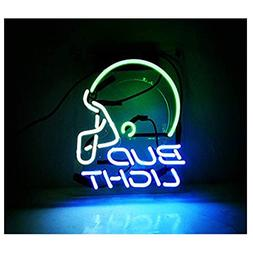 Neon Sign Helmet Shaped Neon Bud Light Wall Decorative Signs