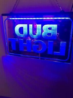 Bud Light Mirror Led Neon Light Sign Game Room ,  Bar , gara