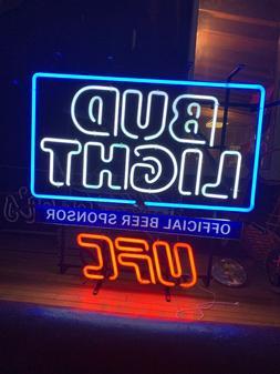 Bud Light Neon UFC Three Color Sign
