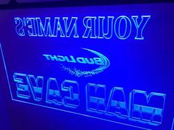 Bud Light Personalized Man Cave Led Neon Light Sign Game Roo