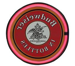 "SOTT Budweiser In a Bottle LED Sign, 12"" Round Bottle Cap Sh"