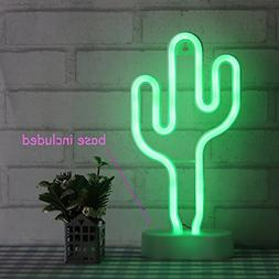 Cactus Neon Light Wall Decor Neon Signs for Bedroom Kids wit