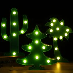 Cactus Neon Sign Battery LED Night Lights USB Powered Bedsid