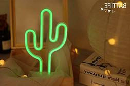 Cactus Neon Sign LED Nightlight Bedside Lamp Bathroom Kids L