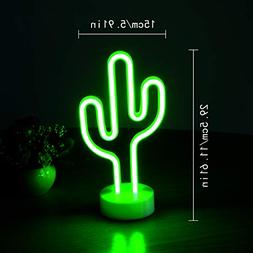 Aligeneral Cactus Neon Sign, LED Neon Light for Bedroom Deco