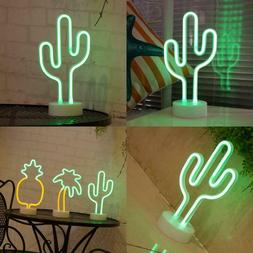 Cactus Neon Signs, Led Neon Light Sign With Holder Base For