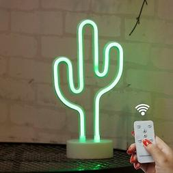 DELICORE Cactus Neon Signs, LED Remote Control Neon Light wi