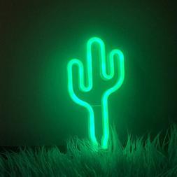 Fefelightup Cactus Neon Signs Light Night Lights Art Decorat