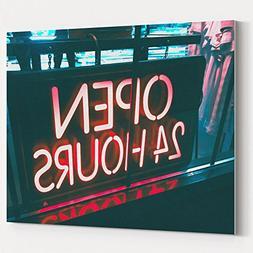 Westlake Art Canvas Print Wall Art - Neon Sign on Canvas Str