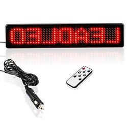 Leadleds 12V Led Car Sign Scrolling Message Display Board Re