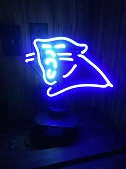 Carolina Panther Neon Football Sign Desk Lamp Blue Center pi