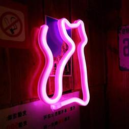 Cat Neon Sign Light LED Animal Neon Decorative Light Art Wal