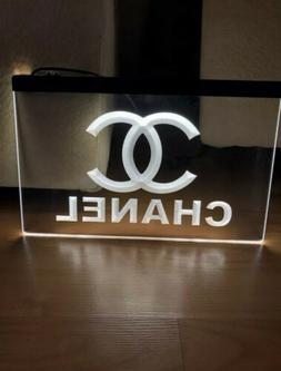 CHANEL LED NEON LIGHT SIGN SIZE 8x12, VERY UNIQUE, COLLECTIB