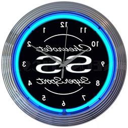Neonetics Chevrolet Chevy SS Super Sport Clock, 15 Inch Diam