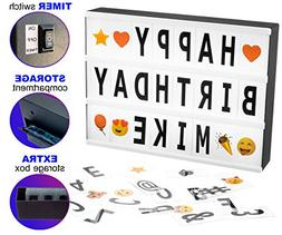Cinema Light Box Marquee with 130 Letters & Emojis, Storage