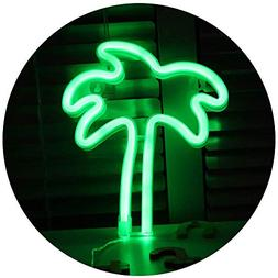 Pooqla LED Coconut Palm Tree Neon Light Sign Wall Decor Nigh