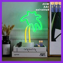 HONGM Coconut Palm Tree Neon Signs LED Neon Light Sign with
