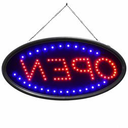 "Commercial LED Open Sign 19""x10"" Business Neon Open Sign 2 L"