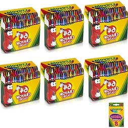 Crayola CYO520064-1 6 Pack 64 Ct Crayons  Assorted