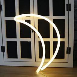 Crescent Neon Light Moon LED Neon Signs Art Wall Lighting De