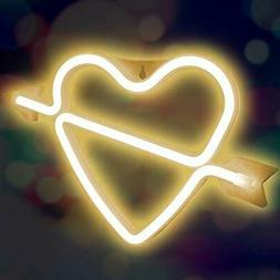 XIYUNTE Cupid Bow Neon Light Sign Led Wall Light Battery or