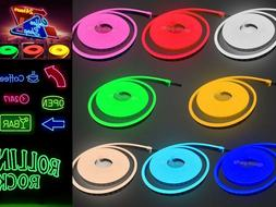 DC12V 100' LED Neon Rope Light Holiday Xmas Shop Boat Sign T