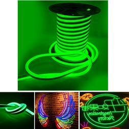 DC12V Green LED Neon Rope Light Strip Home Garden Boat Bar C