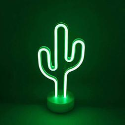 Decorative Cactus Neon Sign Green LED Neon Light Signs Wall