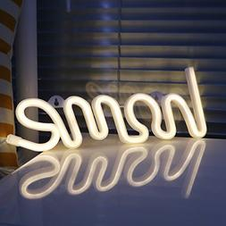 DELICORE Decorative Home Neon Signs Night Lights LED Home Sh