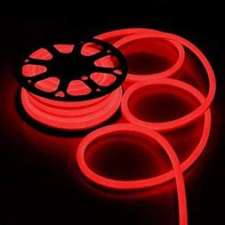 DELight 50 FT 110V Red Illuminated Flexible 1200 Bulbs LED N