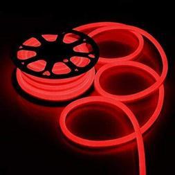DELight 50 FT 110V Red Illuminated Flexible 1200 Bulbs LED N