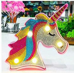 Diamond Painting Kits for kids Unicorn Neon Sign. wanxing. F