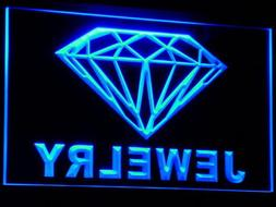 ADVPRO Jewelry Diamond Shop Open LED Sign Neon Light Sign Di