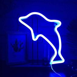 AIZESI Dolphin Gifts Decor Dolphin Light Night Sign LED Lamp