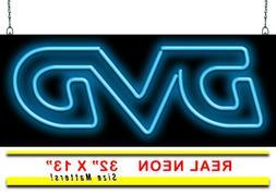 "DVD Neon Sign   Jantec   32"" x 13""   Movie Video Store Cheap"