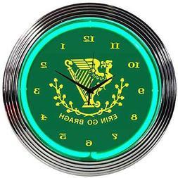 Erin Go Bragh Irish Shamrock St. Patrick's Day green neon si