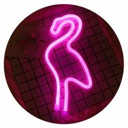 Flamingo LED Neon Signs Neon Lights Wall Lamp Decor Battery