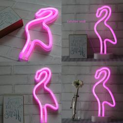 Flamingo Neon Light Wall Decor Signs For Bedroom Girls Birth
