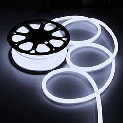 Flexible Cool White Illuminated LED Neon Rope Tube Light 50-