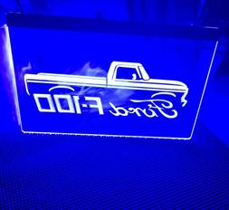 FORD 100 LED NEON BLUE LIGHT SIGN 8x12