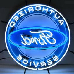 """Ford Authorized Service Art Garage OLP Sign Neon Sign 24""""x24"""