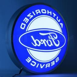Ford Authorized Service Backlit Led OLP Sign Neon Lighted Si