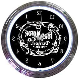 Neonetics Ford Motor Company 1903 Heritage Emblem NEON Clock