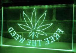 """""""Free the Weed"""" LED Neon Sign - Brand New!"""