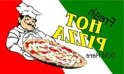 3x5 Foot Fresh Hot Pizza Sold Here Flag