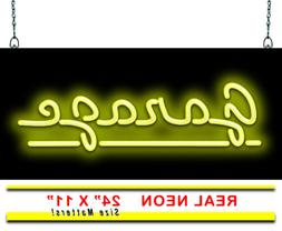 "Garage Neon Sign | Jantec | 24"" x 11"" | Automotive Repair Ma"