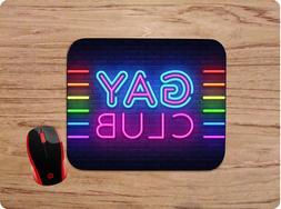 GAY CLUB NEON SIGN PRIDE LGBT CUSTOM MOUSE PAD COMPUTER GAMI