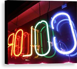 """""""A Neon Sign Celebrates Color"""" by National Geographic, Canva"""
