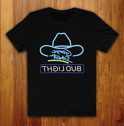 George Strait Bud Light Neon Sign T-Shirt Tee Exclusive All