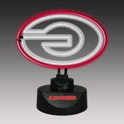 GEORGIA BULLDOGS NEON SIGN LIGHT TABLE TOP LAMP DESK OFFICE/